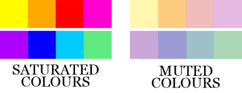 Saturated colours vs. Muted colours
